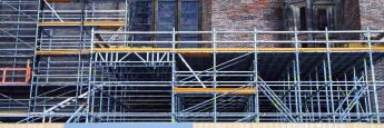 Baugerüst: Verbesserung der Gebäudeeffizienz ist ein Aktionsfeld der neuen Einheit von KGAL.