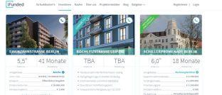 Die Startseite von iFunded.de: Bei der Wahl der Investmentplattform ist Transparenz (87 Prozent) das wichtigste Kriterium für die Befragten.