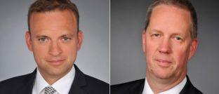 Michael Klüttgens (li.), Leiter Beratung Versicherungen, und Ulrich Wiesenewsky, Leiter Vertriebsservice, bei Willis Towers Watson.