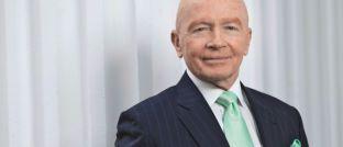 Mark Mobius: Der 81 Jahre alte Managing Director der Fondsgesellschaft Templeton Investments erklärte in einem Bloomberg-Interview, wie er 100.000 US-Dollar anlegen würde.