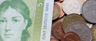 Bargeldreserve in D-Mark: Scheine und Münzen im Milliardenwert wurden nicht in Euro umgetauscht.