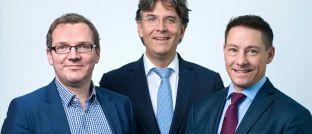 Shareholder Value Management bekommt mit Frank Fischer (Mitte) einen neuen Vorstandsvorsitzenden. Ulf Becker (li.) und Philipp Prömm rücken in den Vorstand auf.