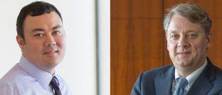 Alfred Murata (l.) und Dan Ivascyn. Der von den Pimco-Spezialisten gemanagte Pimco GIS Income ist mittlerweile über 58 Milliarden Euro schwer.