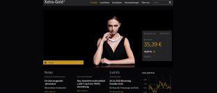 Webseite von Xetra-Gold