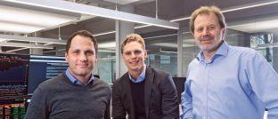 """Die Gründer von Scalable Capital (v.l.n.r.) Florian Prucker, Erik Podzuweit und Stefan Mittnik: """"Die Schweiz ist für jeden Vermögensverwalter ein interessanter Markt."""""""