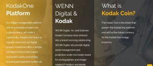 Screenshot der Internetseite von Foto-Spezialist Kodak. Das Unternehmen plant eine eigene Kryptowährung aufzulegen.