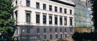 Brüsseler Hauptsitz von Degroof Petercam. Die belgische Privatbank streckt ihre Fühler jetzt noch intensiver in Richtung deutscher institutioneller Investoren aus.