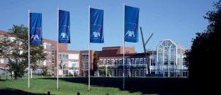 Die Hauptverwaltung der Axa in Köln: Der Versicherer hat seine Pensionskasse an die Frankfurter Leben Gruppe übertragen.
