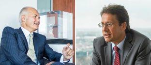 Wollen Anlegern den ersten Schritt ermöglichen: Mitgründer und Vorstandsmitglied Kurt von Storch (links) und Portfoliomanager Elmar Peters, beide Flossbach von Storch