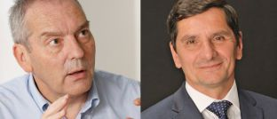 Investmentchef von DNCA Jean Charles Meriaux (li.) und Rentenfondsmanager Pascal Gilbert erhoffen sich 2018 vor allem in Europa gute Investmentgelegenheiten.