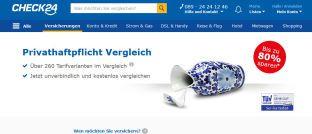 Die Website von Check24: Das Vergleichsportal muss nun ein Ordnungsgeld in Höhe von 15.000 Euro zahlen.