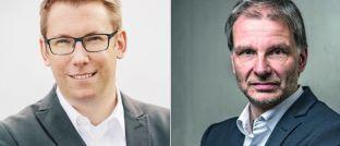 Gemeinsames Wett-Ziel, aber völlig unterschiedliche Strategie: Henning Schmidt vom Oldenburger Beratungshaus Schnitger (links) und Egon Wachtendorf, Kolumnist von DAS INVESTMENT.
