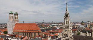 Blick über München: Blackrock verlegt seine deutschen ETFs von München nach Irland.