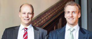 Vorstandsmitglieder von Paladin Asset Management: Matthias Kurzrock (links) und Marcel Maschmeyer