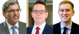 Von links nach rechts: Salman Ahmed, Leitender Investmentstratege, Charles St-Arnaud, Senior Investment Strategist und Jamie Salt, Analyst bei Lombard Odier Investment Managers