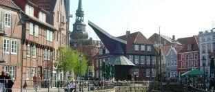 Fischmarkt der Hansestadt Stade: Die örtliche Sparkasse hat fehlerhafte Immobiliendarlehensverträge verwendet.