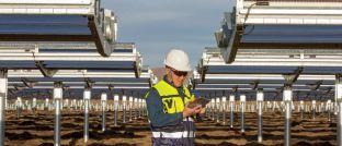 Solarkraftanlage in Sichuan, China: Die DWS hat zusammen mit Apple einen Fonds für erneuerbare Energien aufgelegt