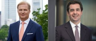 Achim Küssner (l.), Geschäftsführer der Schroder Investment Management GmbH und Peter Harrison, Präsident der Konzernleitung von Schroders