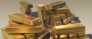 Goldbarren: Der Preis des gelben Edelmetalls befindet sich im Sinkflug
