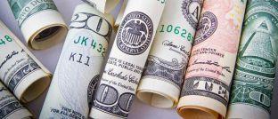 US-Dollar-Banknoten: Der Greenback ist zurzeit relativ stark.