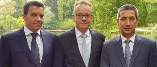 Kay-Peter Tönnes (v.r.n.l.), Dirk Bongers, Günter Wanner.