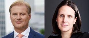 Wollen Anlegern den Zusammenhang zwischen nachhaltigen Geldanlagen und Renditezuwachs nahebringen: Achim Küssner, Geschäftsführer der Schroder Investment Management GmbH, und Jessica Ground, Global Head of Stewardship bei Schroders.