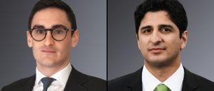 Neu bei Unigestion: Joshua Seager (li.) und Salman Baig.