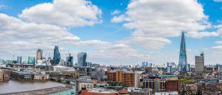 Panoramablick über das Londoner Finanzzentrum: Aktienexperte Andrew MacKirdy wechselt aktuell von Polar Capital ins Team der Newton Investment Management.