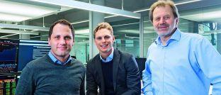 Die Gründer von Scalable Capital Florian Prucker (v.l.n.r.), Erik Podzuweit und Stefan Mittnik.