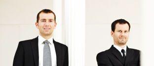 Uwe Rathausky (l.) und J. Henrik Muhle: Die Vorstandsmitglieder der Aschaffenburger Investmentgesellschaft Gané verantworten seit der Fondsauflage mit Acatis vor zehn Jahren das Portfoliomanagement beim Acatis Gané Value Event Fonds. Die Kapitalverwaltungsgesellschaft (KVG) war zunächst Universal-Investment, deren Aufgaben später Acatis übernahm. Der Namenszusatz UI entfiel daraufhin.