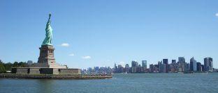 Statue of Liberty mit Blick auf Manhattan: Der US-Anleihemarkt steht laut Paul Brain zunehmend unter Stress.