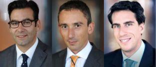 """Fabrizio Quirighetti, Anlagechef und Leiter Multi-Asset, Adrien Pichoud, Chefökonom und Portfoliomanager, und Maurice Harari, Leitender Portfoliomanager bei SYZ Asset Management: """"Wir möchten nach wie vor Aktienrisiken in unseren Portfolios halten."""""""