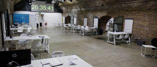Ort des Geschehens: In dieser Garage in London lief der Hackathon von AGI