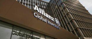 Firmeneingang von Allianz Global Investors in Frankfurt am Main.