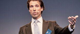 Alex Araujo, hier auf der letztjährigen Jahreskonferenz von M&G, managt den Aktienfonds M&G Global Themes.