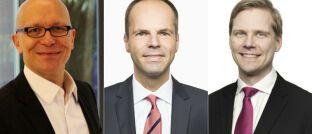 Jürgen Baudisch, Michael Leitzbach und Sakari Järvelä (v.l.n.r.) komplettieren das Führungsgremium der SEB-Bank in Deutschland.
