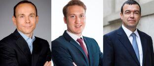 Erwarten für dieses Jahr viel von Anleihen aus Schwellenländern: Jean-Jacques Durand (l.), Romain Bordenave und Stéphane Mayor
