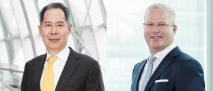 Geoffrey Wong, Chef für globale Schwellenländer und Aktien Asien Pazifik, und Hayden Briscoe, Renten-Chef für den asiatisch-pazifischen Raum, beide bei UBS Asset Management, sind überzeugt, dass die Indexeinbindung chinesischer Aktien und Anleihen die globalen Finanzmärkte nachhaltig verändern wird.