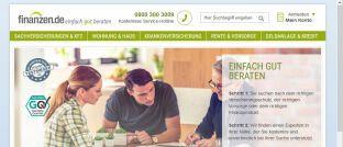 Screenshot der Startseite von Finanzen.de: Laut Süddeutscher Zeitung hat sich die Investmenttochter Allianz X mit dem US-Finanzkonzern Eli Global über den Kauf des Online-Portals geeinigt.