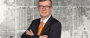 Vorstandssprecher der Hamburger Volksbank Reiner Brueggestrat. Das Institut will ab der kommenden Woche mit einer bankenunüblichen Werbekampagne auf sich aufmerksam machen.
