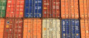 Container in Antwerpen, Belgien.