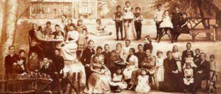 Historische Darstellung der Familie Prym. Das gleichnamige Unternehmen belegt in einem aktuellen Ranking der 30 ältesten deutschen Familienfirmen Rang 2.