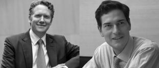"""Matt McLennan (l.) und Kimball Brooker Jr., die Fondsmanager des First Eagle Amundi International Fund: """"Es kann vorkommen, dass wir bei Aktien fünf Jahre auf eine Einstiegsgelegenheit warten."""""""