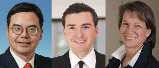 Bin Shi, Evan Brown und Suni Harford (v.l.): Die Experten von UBS Asset Management setzen langfristig auf China.