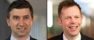 Fondsmanager Mikhail Zverev (links) und Alistair Way, beide Aviva Investors