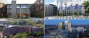 Das Analyse-Unternehmen Morgen & Morgen hat in die Geschäftsberichte deutscher PKV-Anbieter gesehen und Rating-Noten verteilt. Die vier Anbieter im Bild haben Bestnoten erhalten.