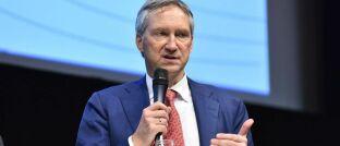 Mitgründer der Kölner Fondsgesellschaft und Fondsmanager Bert Flossbach während eines öffentlichen Auftritts.