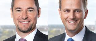 Stefan Holzer (l.) und Dirk von der Crone rücken in die Führung der Swiss Life Deutschland auf.