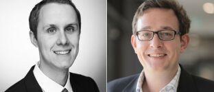 Benjamin Schaub (li.) ist Projektmanager und wissenschaftlicher Mitarbeiter, Professor Dr. Philipp Sandner ist Leiter des Frankfurt School Blockchain Center (FSBC) an der Frankfurt School of Finance & Management.