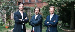 Jens Jennissen, Alexander Kihm und Ambros Gleißner (v.l.): Die drei Fairr-Gründer übernehmen bei Raisin führende Rollen im neu geschaffenen Bereich für Anlage- und Altersvorsorgeprodukte, in dem auch Raisins Investmentsparte rund um Weltinvest aufgehen wird.